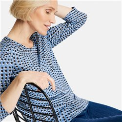 Gerry Weber Dot Print Burnout Top Blue