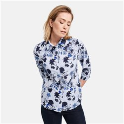 Gerry Weber Floral Print Shirt Blue