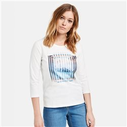 Gerry Weber Top With Front Motif Print Off White