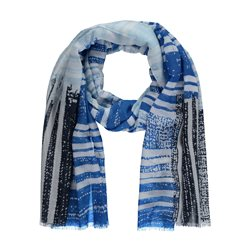 Gerry Weber Mixed Stripe Scarf Blue