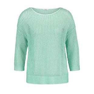 Ribon Knit Jumper Green
