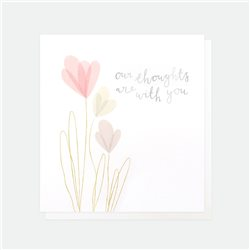 Caroline Gardner Our Thoughts Are With You Sympathy Card White