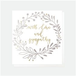 Caroline Gardner With Love And Sympathy Card White