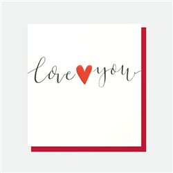 Caroline Gardner Love You Heart Card White
