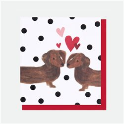 Caroline Gardner Sausage Dog Love Card White