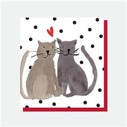 Caroline Gardner Cat's Heart Card White