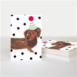Caroline Gardner Sausage Dog Card Pack White