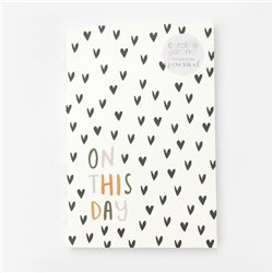 Caroline Gardner Scattered Hearts Journal White