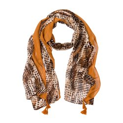 Olsen Animal Print Scarf Brown