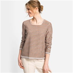 Olsen All Over Stripe Top Brown