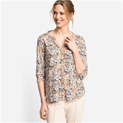 Olsen Butterfly Print Top Brown