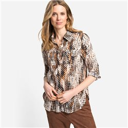 Olsen Animal Print Shirt Brown
