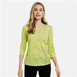 Gerry Weber Dot Print Burnout Top Lime