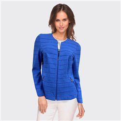 Lebek Textured Zip Jacket Blue
