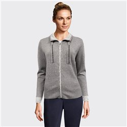Lebek Knitted Zipped Jacket Grey