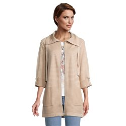 Betty Barclay Longline Ribbed Jacket Beige