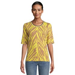 Betty Barclay Animal Print Top Yellow