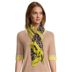 Betty Barclay Animal Print Scarf Yellow