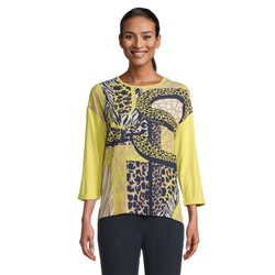 Betty Barclay Top With Abstract Front Print Yellow