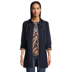 Betty Barclay Longline Ribbed Jacket Navy