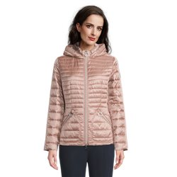 Betty Barclay Quilted Coat With Hood Pink