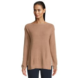 Betty Barclay Jumper With Sequin Side Detail Camel