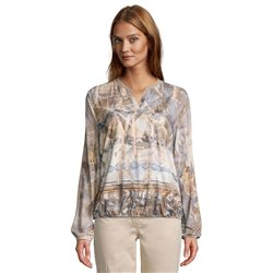 Betty Barclay Mixed Print Blouse Beige