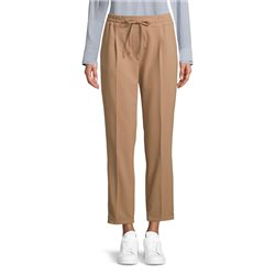 Trousers With Tie Waistband Camel