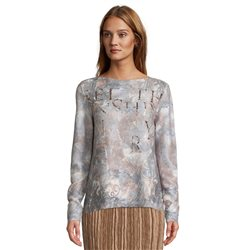 Betty Barclay Paisley Print Jumper Blue