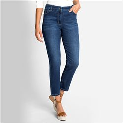 Olsen Mona Slim Cropped Jean Denim Blue