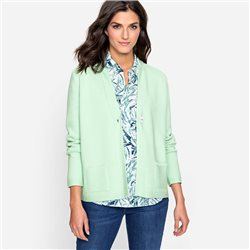 Olsen Button Front Cardigan Green