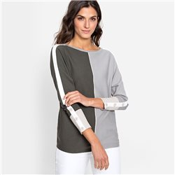 Olsen Two Tone Jumper Khaki