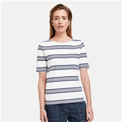 Gerry Weber Organic Cotton Striped Top Off White