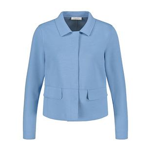 Jacket With Collar Neckline Blue