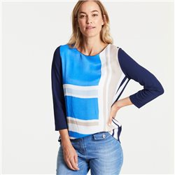 Gerry Weber Top With Front Print Blue