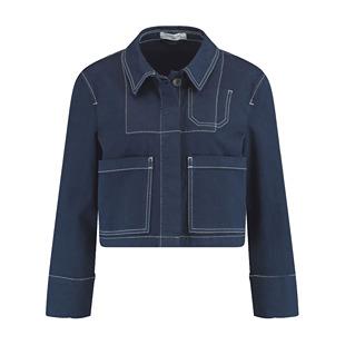 Stretch Cotton Jacket Deep Blue Denim