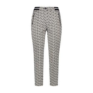 Circle Print Trousers Navy