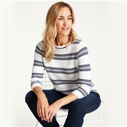 Gerry Weber Organic Cotton Striped Jumper Off White