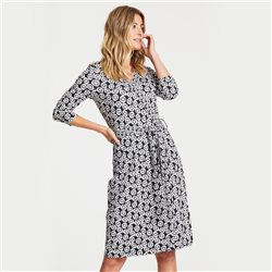 Gerry Weber Wrap Effect Dress Navy