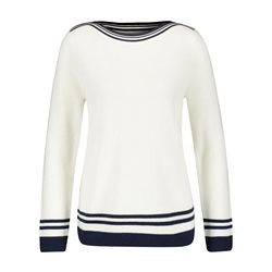 Gerry Weber Jumper With Contrast Edging Off White
