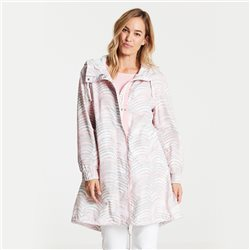 Gerry Weber Longline Coat With All Over Print Pink