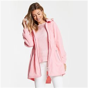 Lightweight Coat With Hood Pink