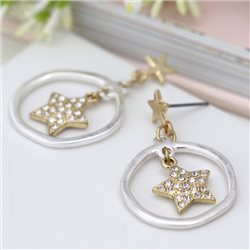 Pom Star Insert Hoop Earrings Gold