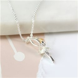 Pom Silver Plated Fairy Necklace Silver