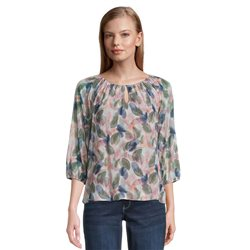 Betty & Co Leaf Print Blouse Pink