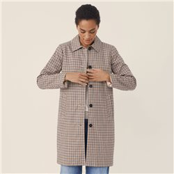 Part Two Hevi Check Coat Beige