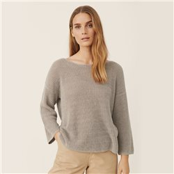 Part Two Cetrona Linen Knit Grey