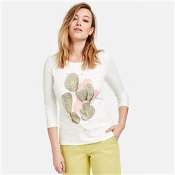 Gerry Weber Top With Cactus Print Off White