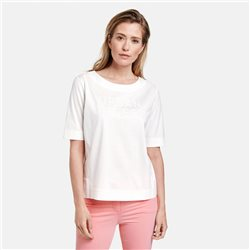 Top With Embroidery Off White