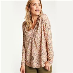 Gerry Weber Floral Print V Neck Top Pink